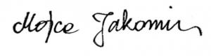 Mojca Jakomin - podpis